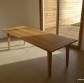table chêne avec allonges papillon