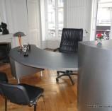 bureau plaqué chêne et aluminium