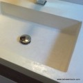 plan vasque intégrée béton