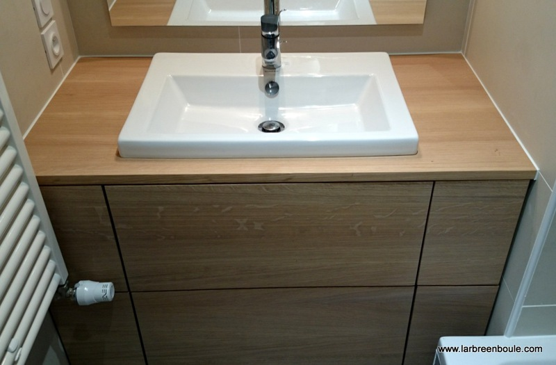 nice plan lavabo salle de bain #3: plan de travail de salle de