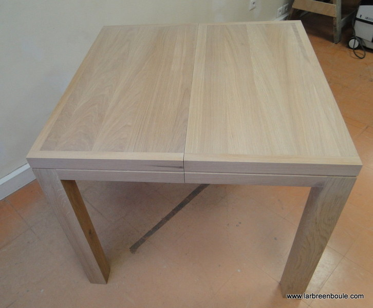 Table carree avec rallonge integree - Table avec rallonge integree ...