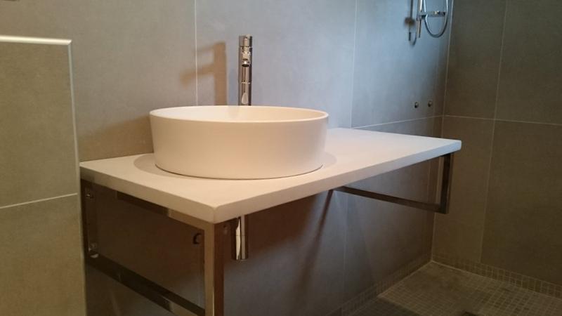 Plan De Travail Sur Mesure Salle De Bain Arcizocom - Plan de travail salle de bain sur mesure