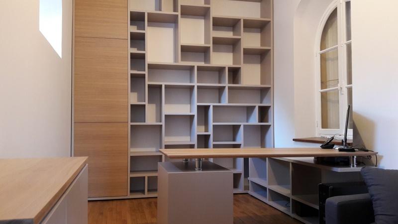 Mobilier sur mesures conception cr ation et pose de biblioth ques - Bibliotheque pour bureau ...