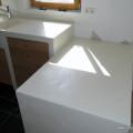 cuisine table retour mortier fin lissé