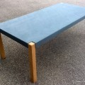Table mortier fin lissé