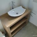 plan vasque chêne massif