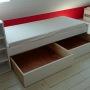 lits équipés de tiroirs