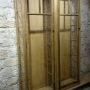 vitrine vieux châssis chêne