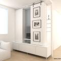 étude meuble TV panneaux coulissants