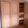 armoire chêne 3 portes étagères tiroirs
