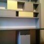 bureau bibliothèque mdf laqué