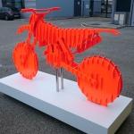KTM sculpture bois sortie d'atelier