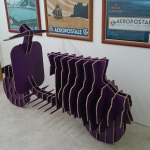 Vespa sculpture reboard