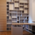 bureau et bibliothèque mdf laqué